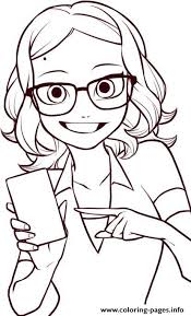 Miraculous Ladybug Coloring Pages Alya Cesaire