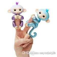 Bling Fingerlings Monkey Toy Interactive Baby Finger Toys Electronic Smart Touch Abs Pvc The Best Halloween Christmas Gifts For