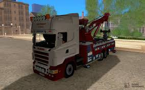 100 Tow Truck San Francisco Scania With Ing Services For GTA Andreas