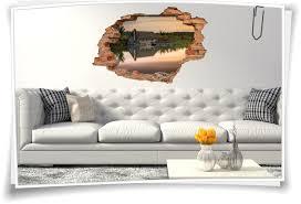 wand bild er wohnzimmer landhaus stil deko wand 3d wand aufkleber schlafzimmer wand durchbruch abend see hüte wald