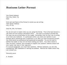 Sample Business Letter Sample Professional Letter Format Example