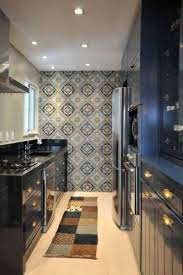 Stunning Galley Kitchens Designs For Small Fancy Kitchen Decor With Unique Decorative Wallpaper