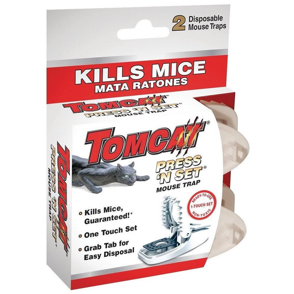 Tomcat Press 'n Set Mouse Trap - 2 Count