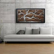Reclaimed Wood Wall Art Handmade Made Of Old And Rustic Steel By