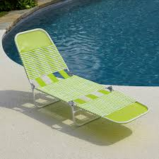 Beach Lounge Chairs Kmart by Pvc Chaise Lounge Green Outdoor Living Patio Furniture
