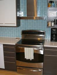 horizontal glass tile backsplash interior best kitchen green tiles