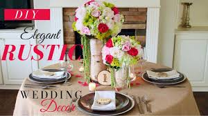 DIY ELEGANT RUSTIC WEDDING DECORATIONS