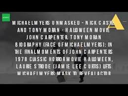 Who Plays Michael Myers In Halloween 1978 by Who Played Michael Myers In The First Halloween Youtube