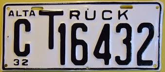 File:ALBERTA 1932 -C CLASS TRUCK LICENSE PLATE FIVE DIGIT - Flickr ...