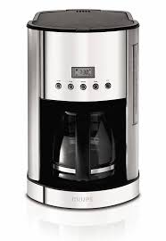 Amazon KRUPS KM730D Breakfast Set Coffee Maker Machine With Brushed And Chrome Stainless Steel Housing 12 Cup Silver Drip Coffeemakers Kitchen