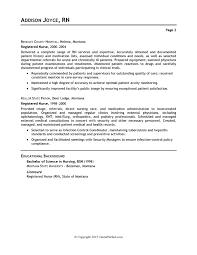Resume For Nursing Job