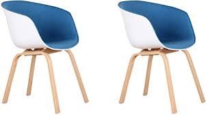 grobkau 2er set stoffsessel skandinavische sessel seitenstühle arbeitszimmer stühle für wohnzimmer küche konferenzraum café usw blau metallbeine