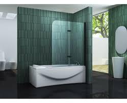 duschtrennwand two schwarz badewanne