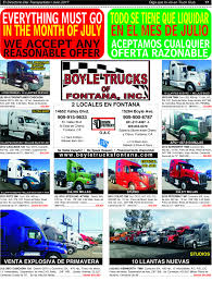 Boyle Trucks Of Fontana, Inc. 2013 Peterbilt 587 Fontana Ca 5000523313 2009 Hino 268 Reefer Refrigerated Truck For Sale Auction Or 2014 386 122264411 Cmialucktradercom Used Kenworth Trucks Arrow Sales 2004 Chevrolet C4500 Service Mechanic Utility Freightliner Scadia Tandem Axle Daycab For 531948 T800 Find At Used Peterbilt 384 Tandem Axle Sleeper For Sale In 2015 Kenworth T680