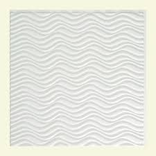 Fasade Drop Ceiling Tiles by Fasade Coffer 2 Ft X 2 Ft Lay In Ceiling Tile In Gloss White