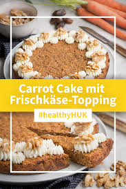 saftiger carrot cake mit frischkäse topping huk coburg