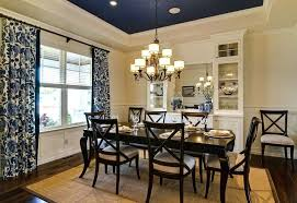 Full Size Of Navy Blue Rooms Dining Room Traditional With Tray Ceiling And Bloods Curtains White
