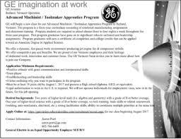 General Electric job