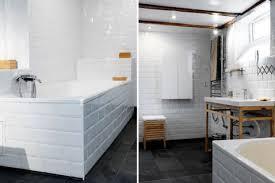 kreativ carrelage salle de bain blanc noir et haus decorating