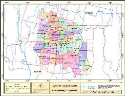 Map Of The Municipality Yogyakarta