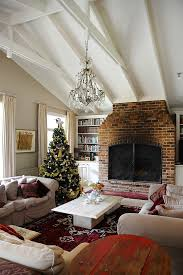 Houzz Living Rooms Traditional by Built In Bookshelves Living Room Traditional With Christmas Tree