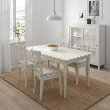 ingatorp ingolf tisch und 4 stühle weiß 155 cm