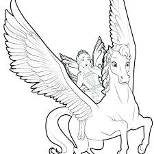 Unicorn Fairy Coloring Pages As Well Flying