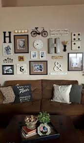 Family Picture Wall Neutral Colored Gallery With Assorted Frames And Odd Bits Note