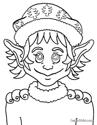 Elf Pointed Ears Coloring Page