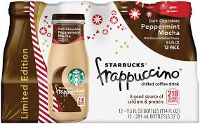 StarbucksR Dark Chocolate Peppermint Mocha FrappuccinoR Coffee Drink 12 Pack 95 Fl Oz Glass Bottles Reviews