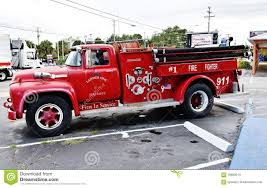100 Ford Fire Truck Old V8 South Carolina Usa Editorial Stock Photo