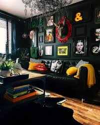 100 Sexy Living Rooms Cool Blackthemed Living Room With Splashes Of Color Sweet