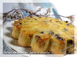 gourmande sans gluten gâteau amandes poires et chocolat sans gluten