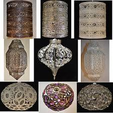 Punched Tin Lamp Shades Uk by Moroccan Lampshade Ebay