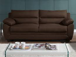 ventes uniques canapes canapé 3 et 2 places en tissu anthracite ou chocolat manoa