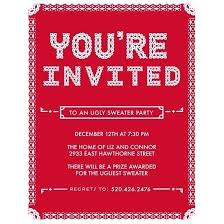 Luxury Holiday Party Invitations Particular Pattern Ugly Sweater Invitation Template Free