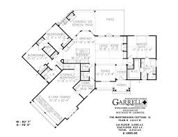 Westbrooks Cottage II 11117 H Floor Plan Rustic Mountain Style House Plans
