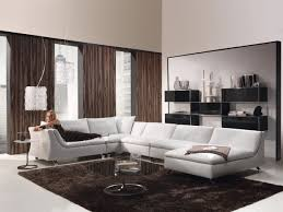 furniture contemporary white leather sectional couches design