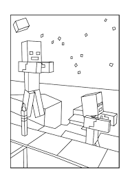 Zombie Minecraft Coloring Pages