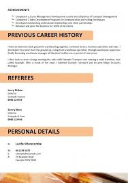 Truck Driver Resume No Experience Template Example