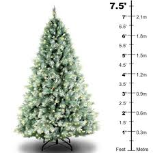 7ft Pre Lit Christmas Trees by Review Harvard Blue Fir Pre Lit 7 5ft Artificial Christmas Tree