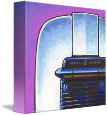 GE Toaster Purple By Larry Hunter