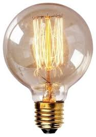 edison tungsten globe filament vintage style light bulb