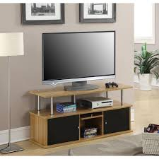 modern 50 inch tv stand in light oak black wood finish