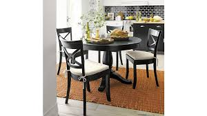 vintner black wood dining chair and cushion crate and barrel