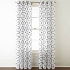 Sheer Curtain Panels With Grommets by Jcpenney Home Bayview Embroidery Sheer Grommet Top Curtain Panel