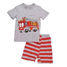 Dreamaxhp Baby Boy Clothes Toddler Boys Pajamas Fire Truck Sleepwear ...