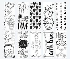 Free Printable Valentine Coloring Pages For Adults Page Bookmarks Heart Hearts