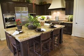Pictures Of Kitchens Traditional Dark Wood Walnut Color Regarding Kitchen Ideas With Cabinets