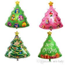 7858cm Christmas Tree Shaped Foil Balloons Catoon Animal Pink Princess Balloon Decoration Balls Decor Air